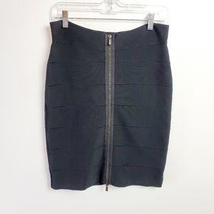 Bcbg large black knit skirt